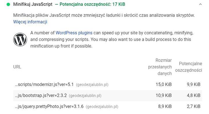 Minifikuj JavaScript