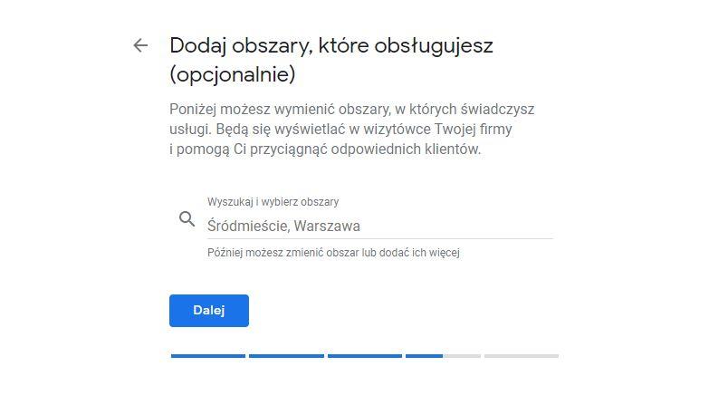 Obszar działania firmy Google Moja Firma