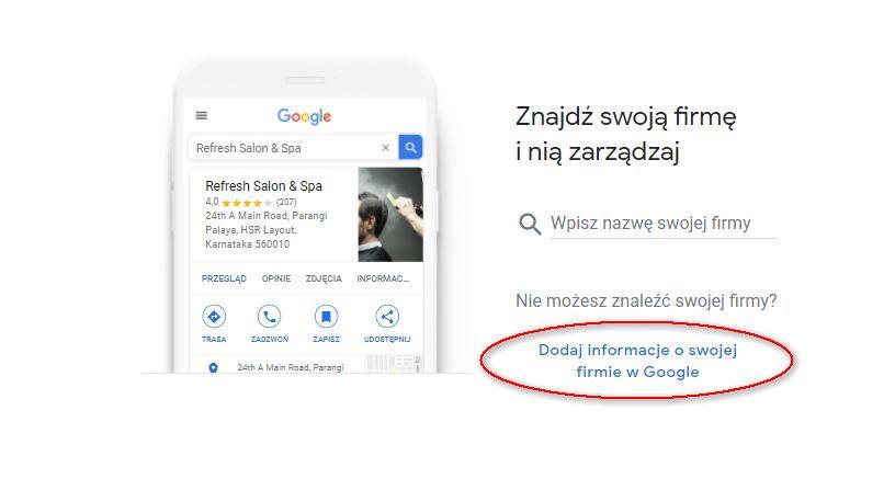 Założenie wizytówki Google Moja Firma krok po kroku
